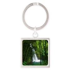 Waterfall in Azores Square Keychain