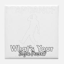 Tap dance designs Tile Coaster