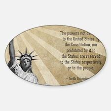 Tenth Amendment Sticker (Oval)