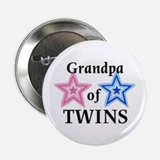 Grandpa of Twins (Girl, Boy) Button