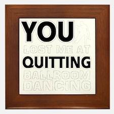 Ballroom dancing designs Framed Tile