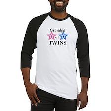 Grandpa of Twins (Girl, Boy) Baseball Jersey