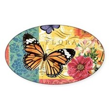 Modern vintage French butterfly and Decal
