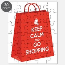 Keep calm and go shopping (bag2) Puzzle