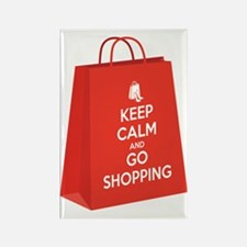 Keep calm and go shopping (bag2) Rectangle Magnet