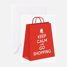 Keep calm and go shopping (bag2) Greeting Card