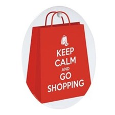 Keep calm and go shopping (bag2) Oval Ornament