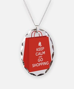 Keep calm and go shopping (bag Necklace