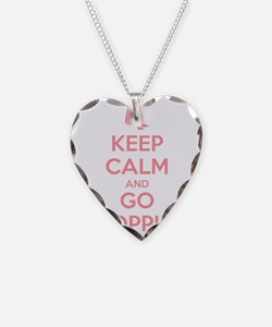 Keep Calm and Go Shopping Necklace