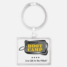 Live Life to the Fittest Landscape Keychain