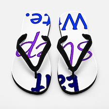 Eat, Sleep, Write Flip Flops