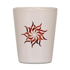Mandala Flame Shot Glass