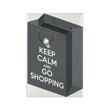 Keep calm and go shopping (bag3) Rectangle Magnet
