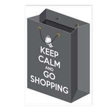 Keep calm and go shopping Postcards (Package of 8)