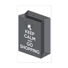 Keep calm and go shopping (bag Decal