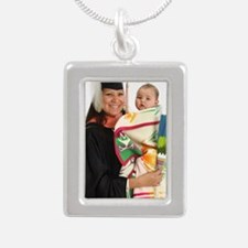 2013 Graduation Regalia Silver Portrait Necklace
