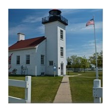 Sand Point Lighthouse Tile Coaster