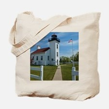 Sand Point Lighthouse Tote Bag