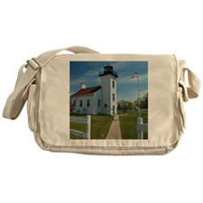 Sand Point Lighthouse Messenger Bag