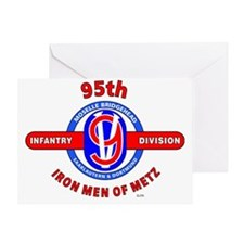 95TH Infantry Division Iron Men of M Greeting Card