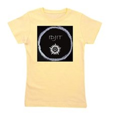"Supernatural ""Idjit"" badge Girl's Tee"