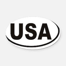 USA Oval Sticker Oval Car Magnet