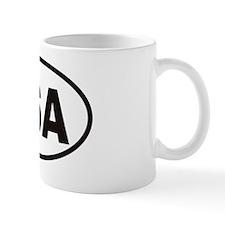 USA Oval Sticker Mug
