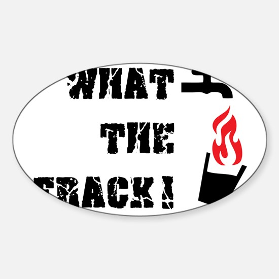 What The Frack! Sticker (Oval)