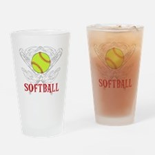 Softball Tribal Drinking Glass