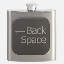 Black Keyboard Back Space Key Flask