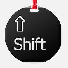 Black Keyboard Shift Key Ornament