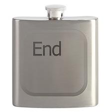 White Keyboard End Key Flask