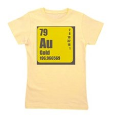 Periodic Table Of Element's Au GOLD Girl's Tee