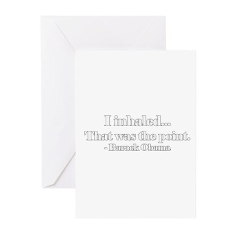 i inhaled that was the point Greeting Cards (Pack