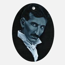 Nikola Tesla Oval Ornament
