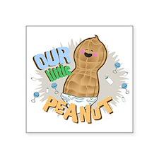 """LITTLE PEANUT Square Sticker 3"""" x 3"""""""