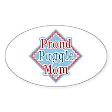 Puggle Mom Oval Decal