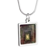 Dimensions square Silver Square Necklace
