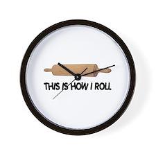 How I Roll Baking Wall Clock