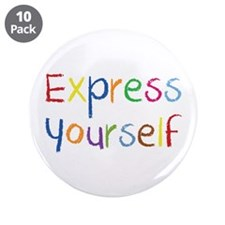 """Express Yourself 3.5"""" Button (10 pack)"""