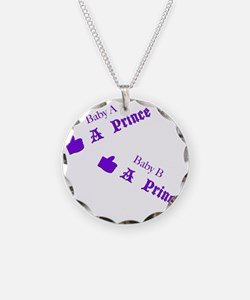 Baby A Prince Baby B Prince  Necklace