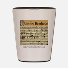 The Unheard Beethoven Sketch Logo Shot Glass