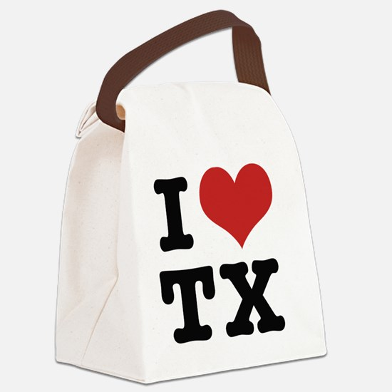 I love texas Canvas Lunch Bag