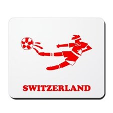 Swiss Soccer Player Mousepad