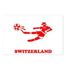Swiss Soccer Player Postcards (Package of 8)
