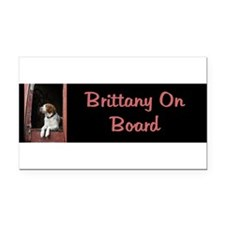 Funny American brittany Rectangle Car Magnet