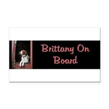 Cute Brittany spaniel Rectangle Car Magnet