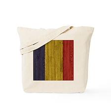 Hardwood floor Romanian Flag Twin Size Du Tote Bag