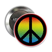 "Psychadelic Peace Sign 2.25"" Button"