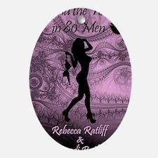 Around the World in 80 Men Oval Ornament